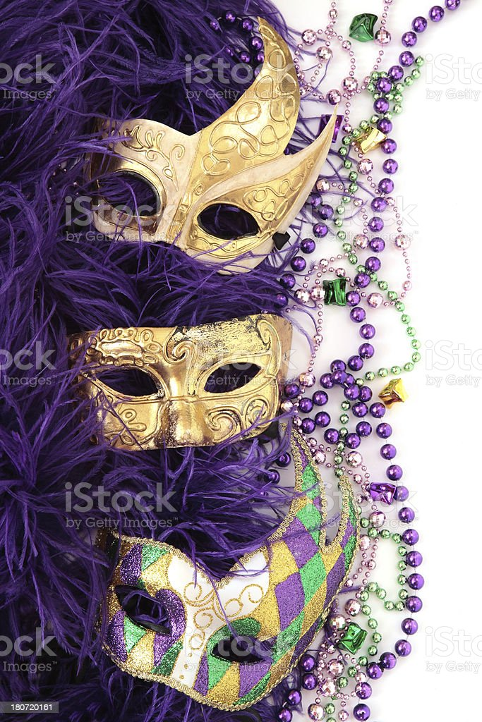 Masks and Feathers royalty-free stock photo