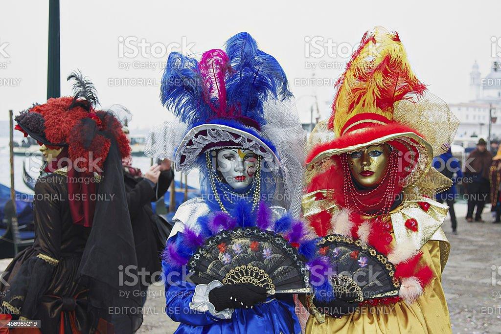 Masks at 2012 Venice Carnival royalty-free stock photo