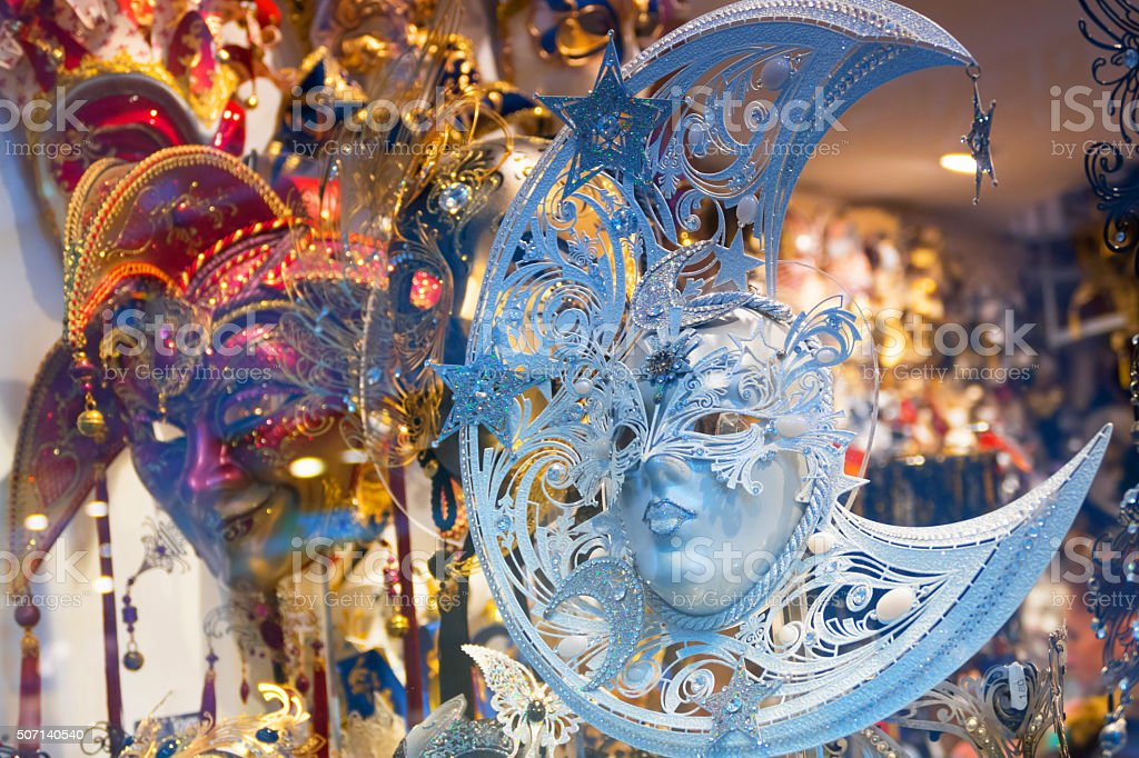 Masks from the Venetian Carnival stock photo