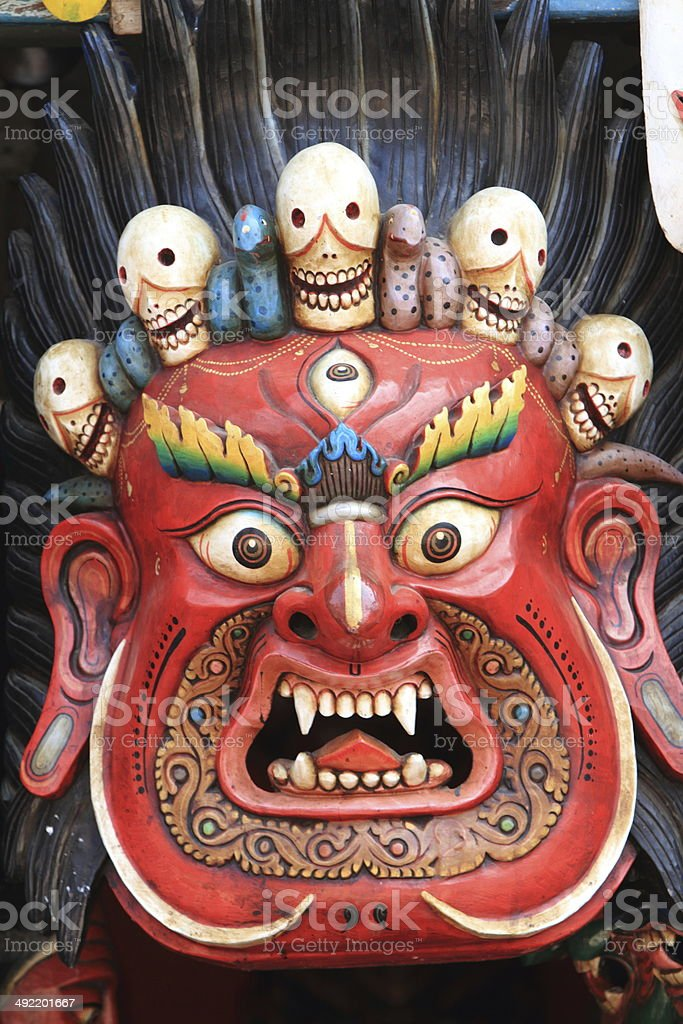 Masken von G?ttern in Nepal royalty-free stock photo