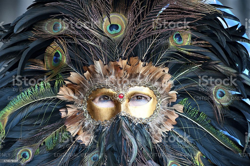masks of venice carnival royalty-free stock photo