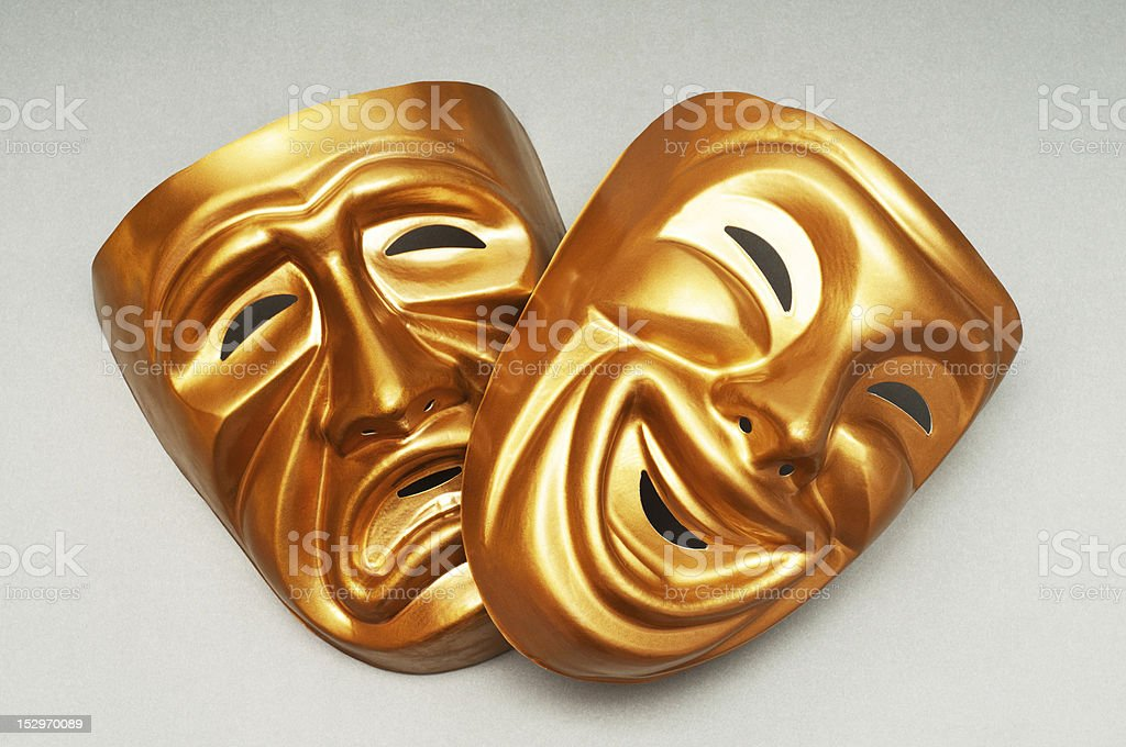 Masks with the theatre concept royalty-free stock photo