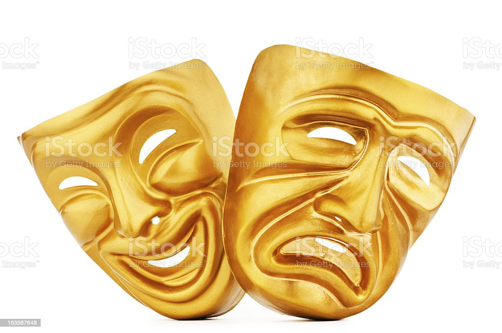 Masks with the theatre concept stock photo