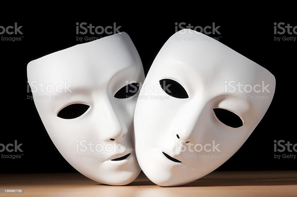 Masks with theatre concept royalty-free stock photo