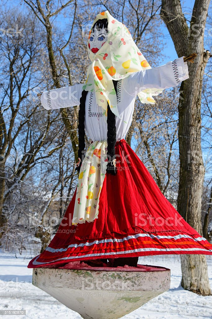 Maslenitsa - Russian religious holiday stock photo