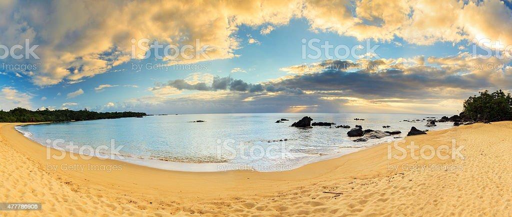 Masoala Madagascar panorama stock photo