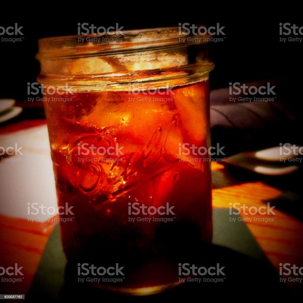 Mason Jar with Soda stock photo