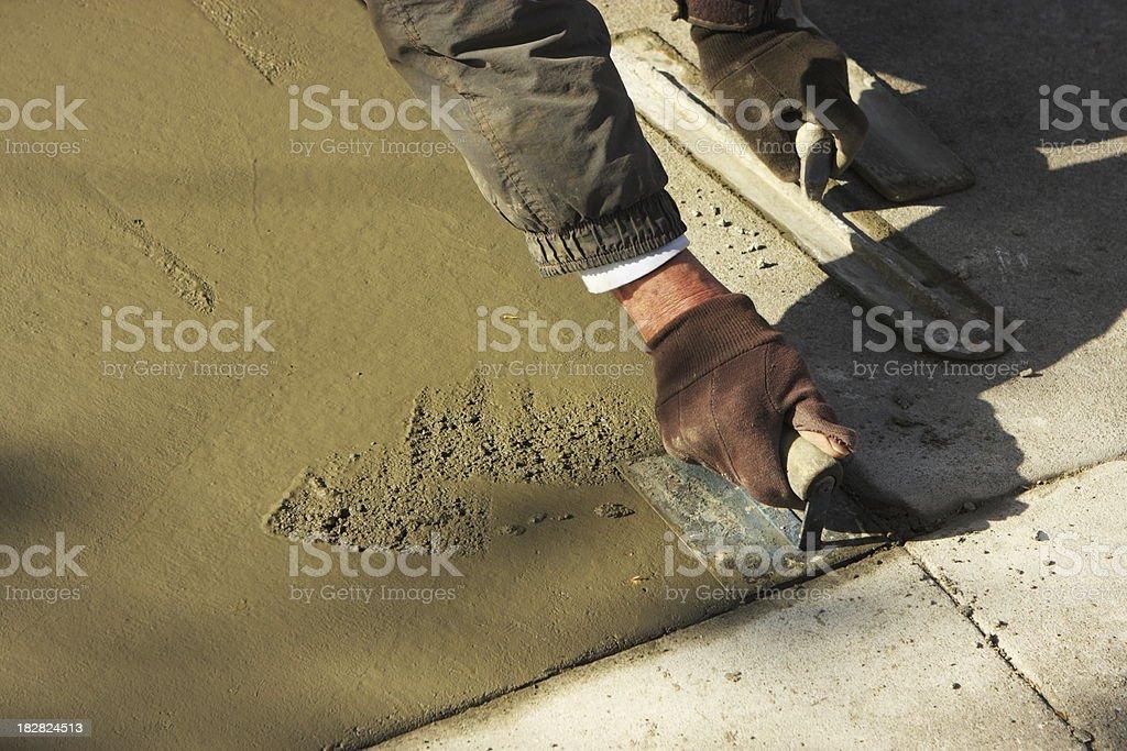 Mason Trowel Conrete Construction Tool stock photo