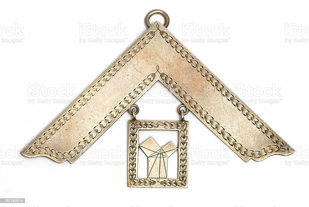masonic pendant stock photo