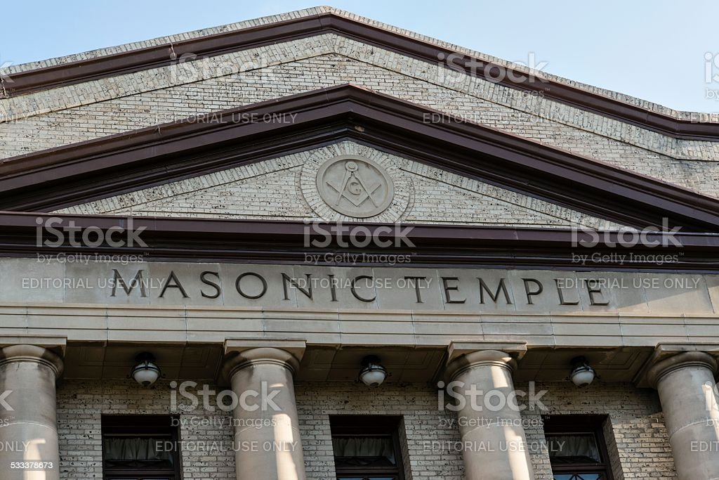 Masonic Temple, Fort Collins stock photo