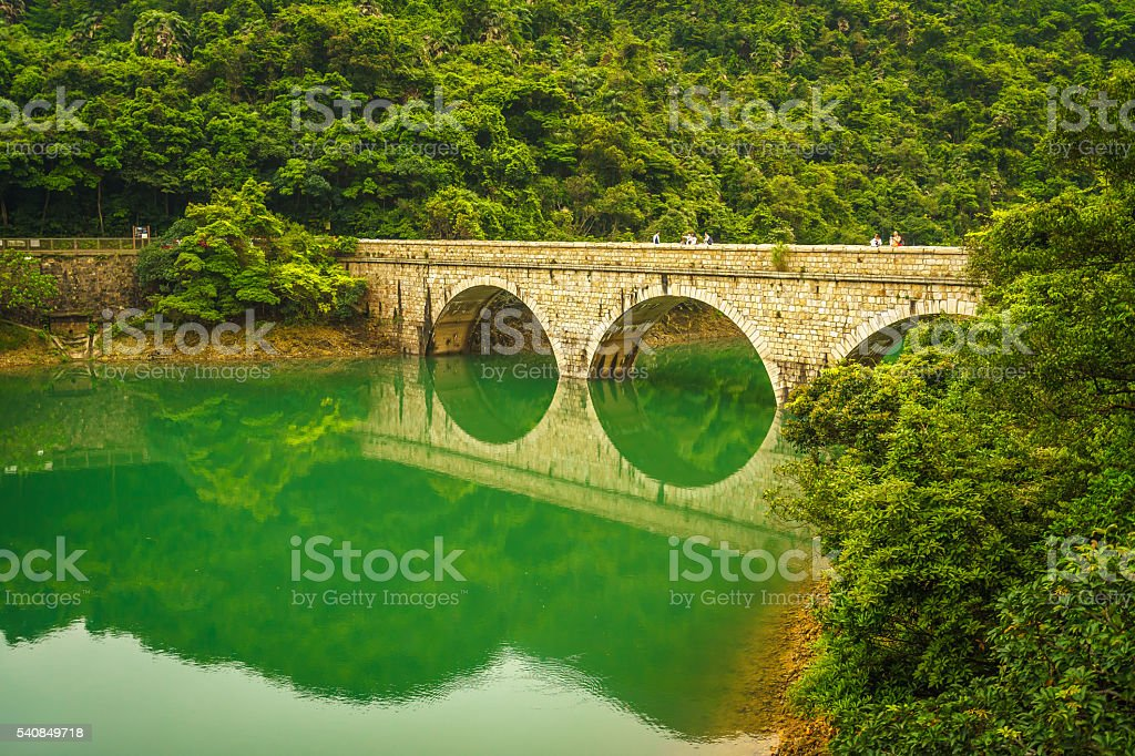 Masonry Bridge Hong Kong stock photo