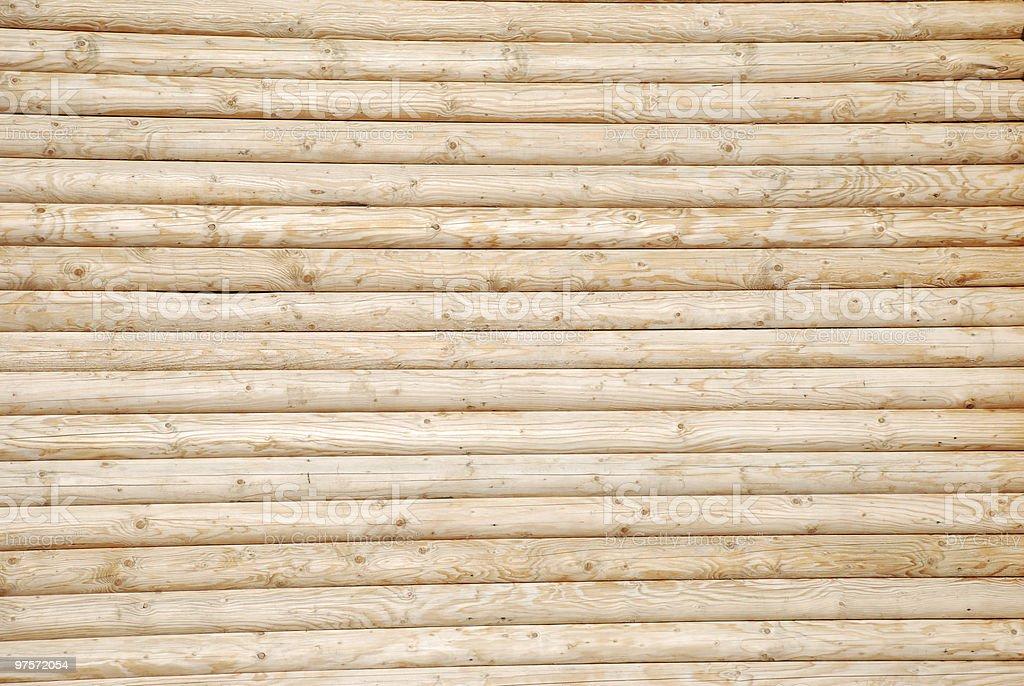 masonry of wooden logs royalty-free stock photo