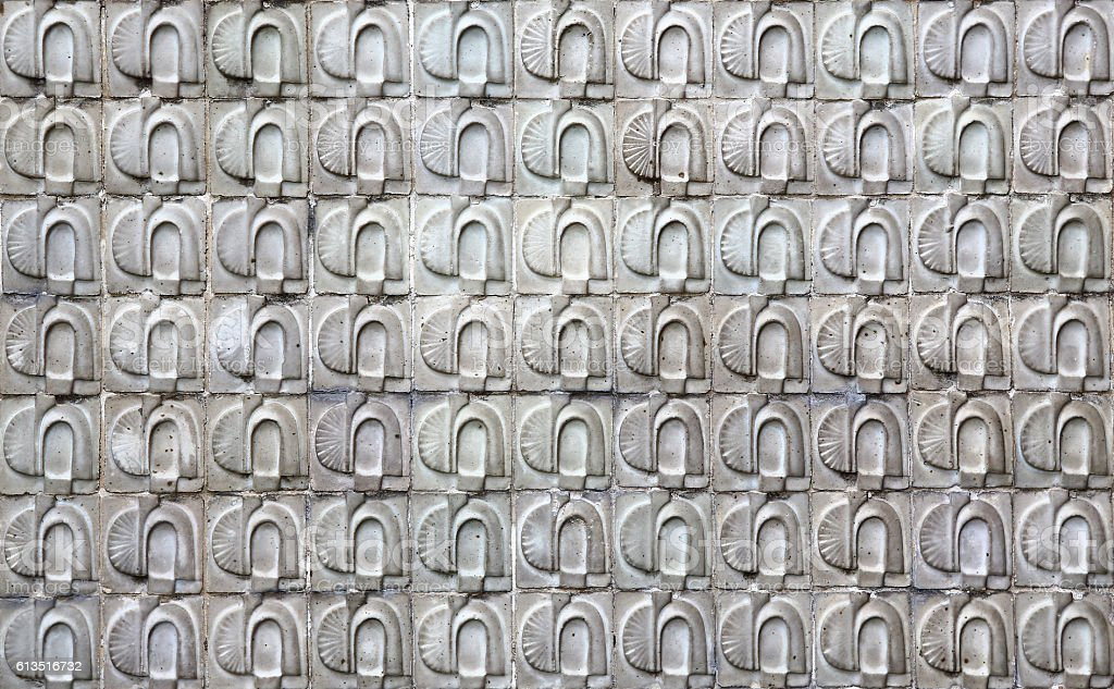 Masonry Wall of Stones Granite with irregular pattern, seamless texture stock photo