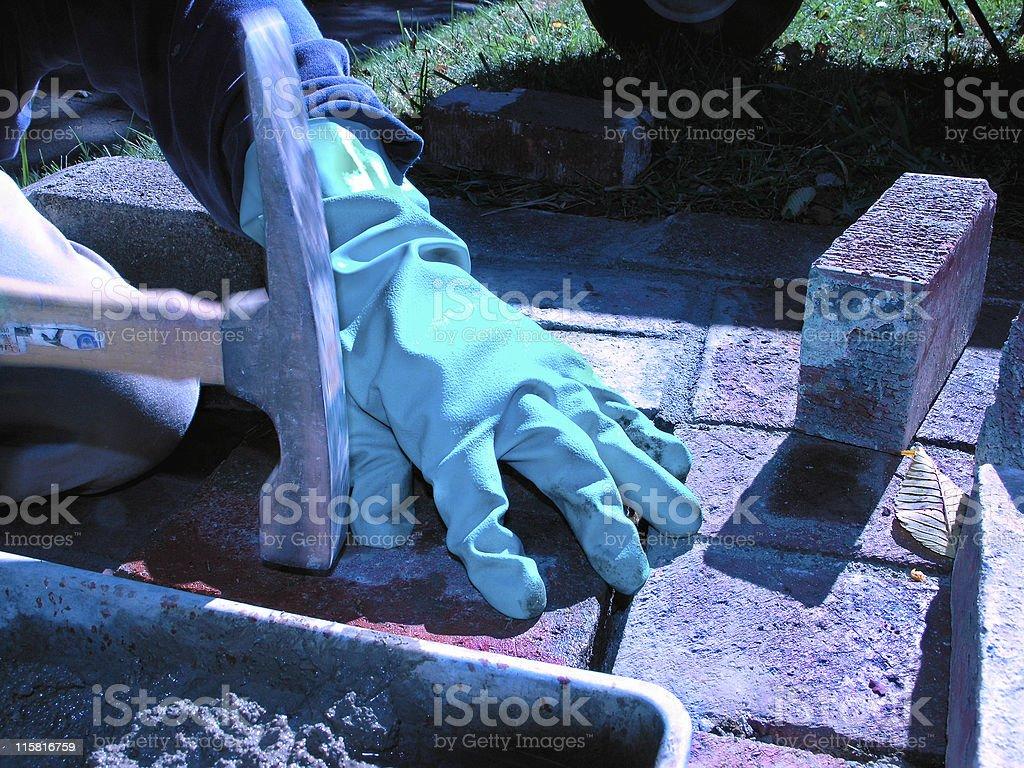 Masonry Work royalty-free stock photo