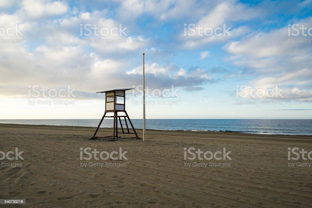 Maspalomas Beach in the early Morning stock photo