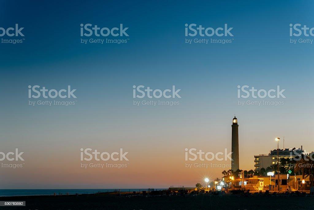 Maspalomas' Lighthouse stock photo