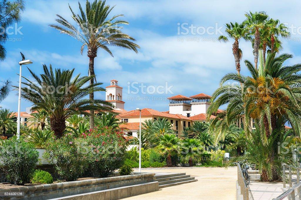 Maspalomas resort. Gran Canaria, Spain stock photo
