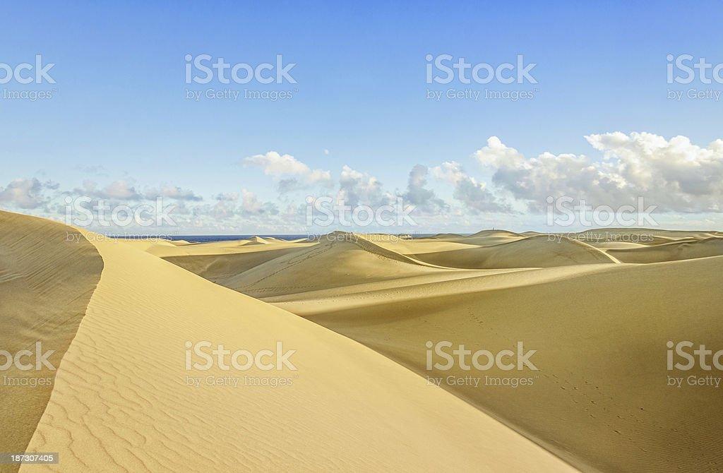 Maspalomas Sand Dunes - Gran Canaria royalty-free stock photo