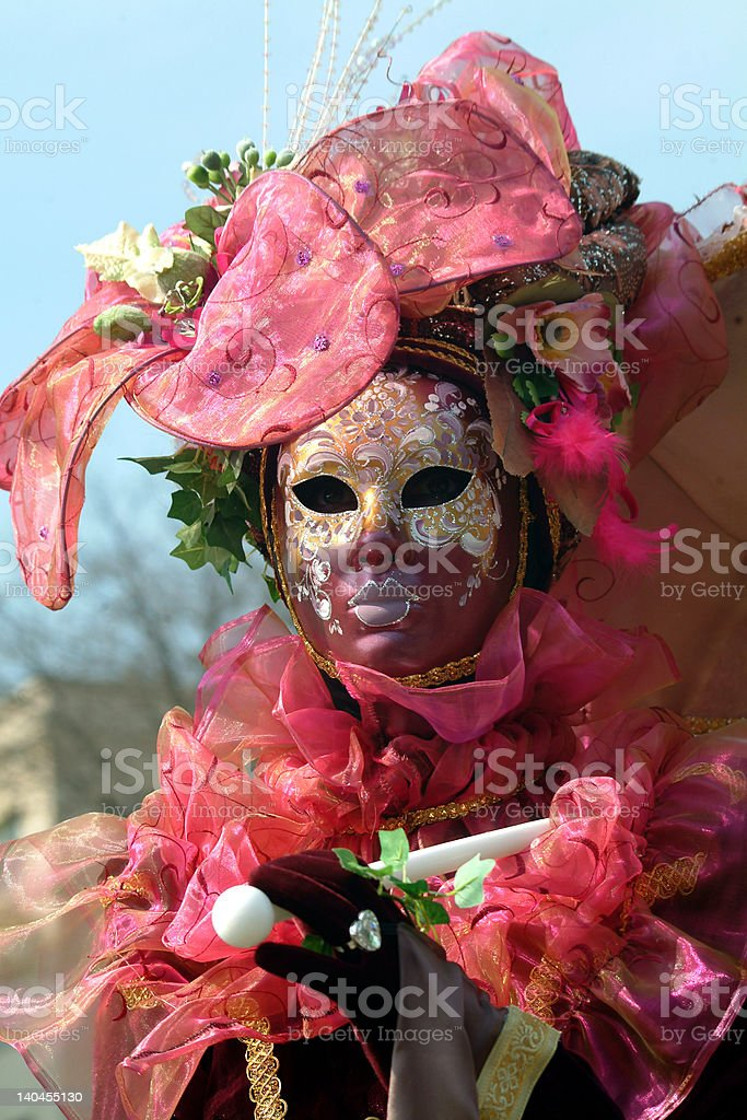 Masque et costume de carnaval royalty-free stock photo