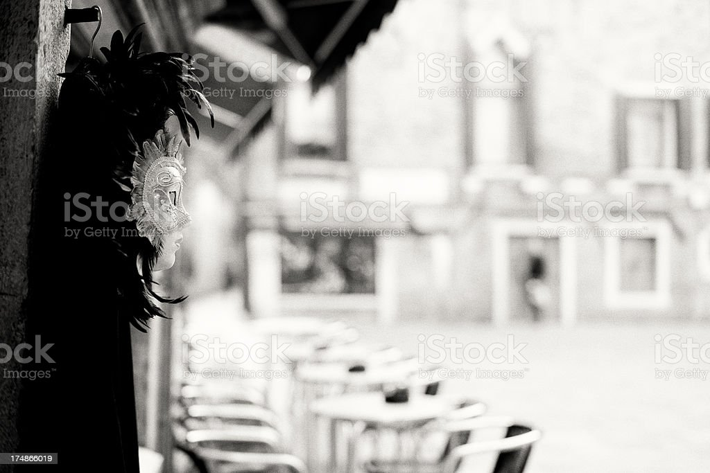 Masquerade Mask. Sepia Tone royalty-free stock photo