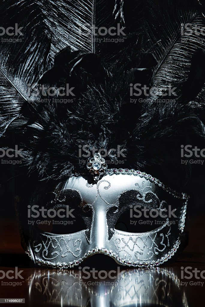 Masquerade Mask with Reflection stock photo