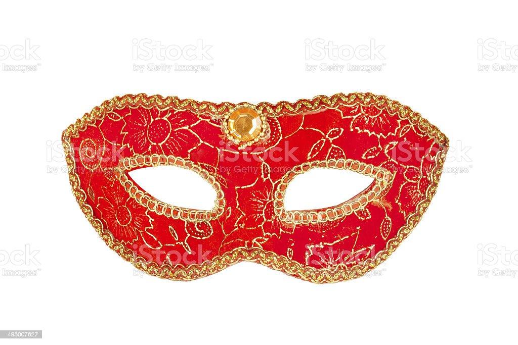 Masquerade party masks isolated on white background stock photo