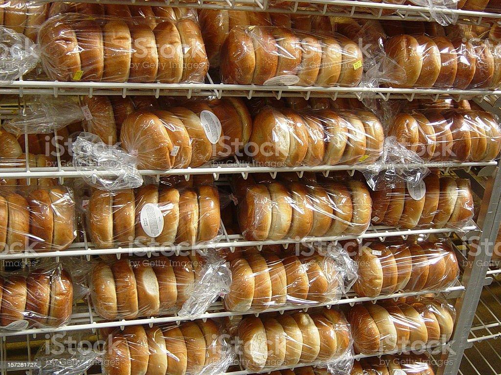 Mass montants des Bagels, des plats sans Gluten. photo libre de droits