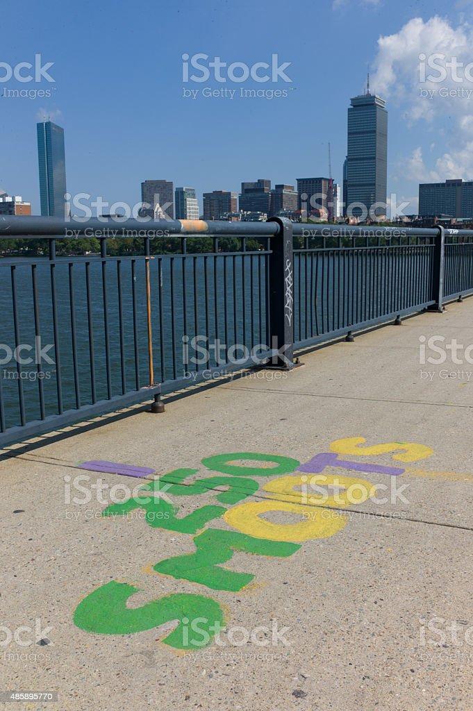 Mass Ave Bridge stock photo