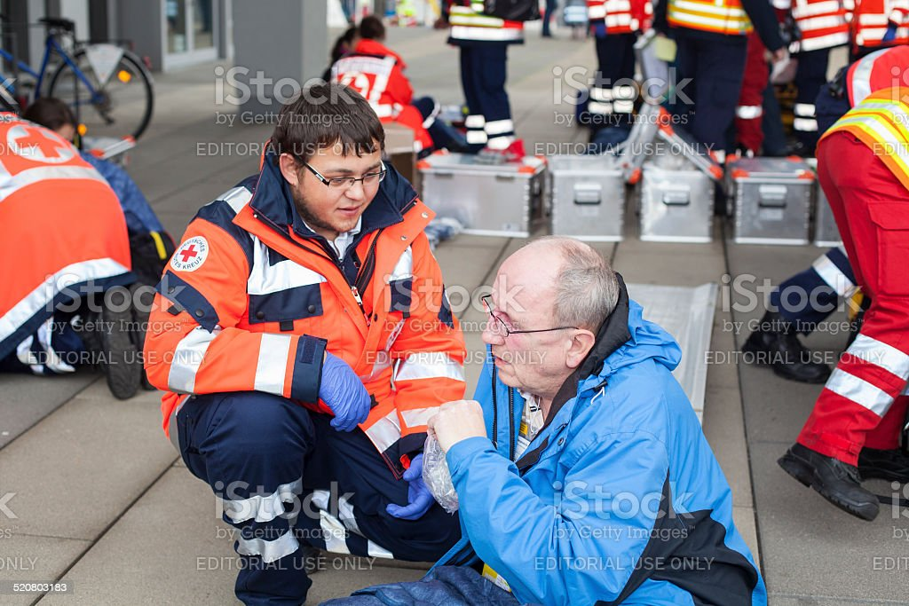 Mass Casualty Drill stock photo