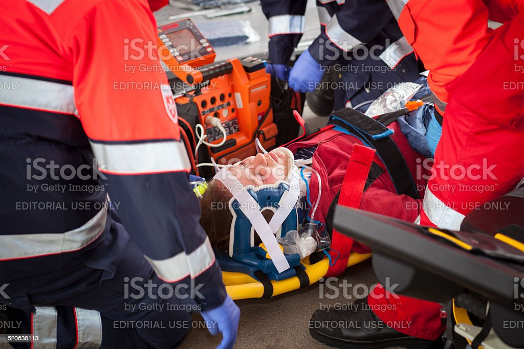 Mass Casualty Drill - transport stock photo