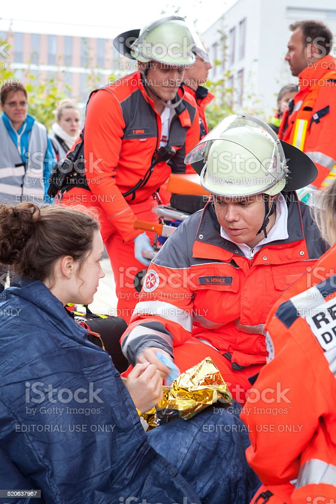 Mass Casualty Drill - Triage stock photo