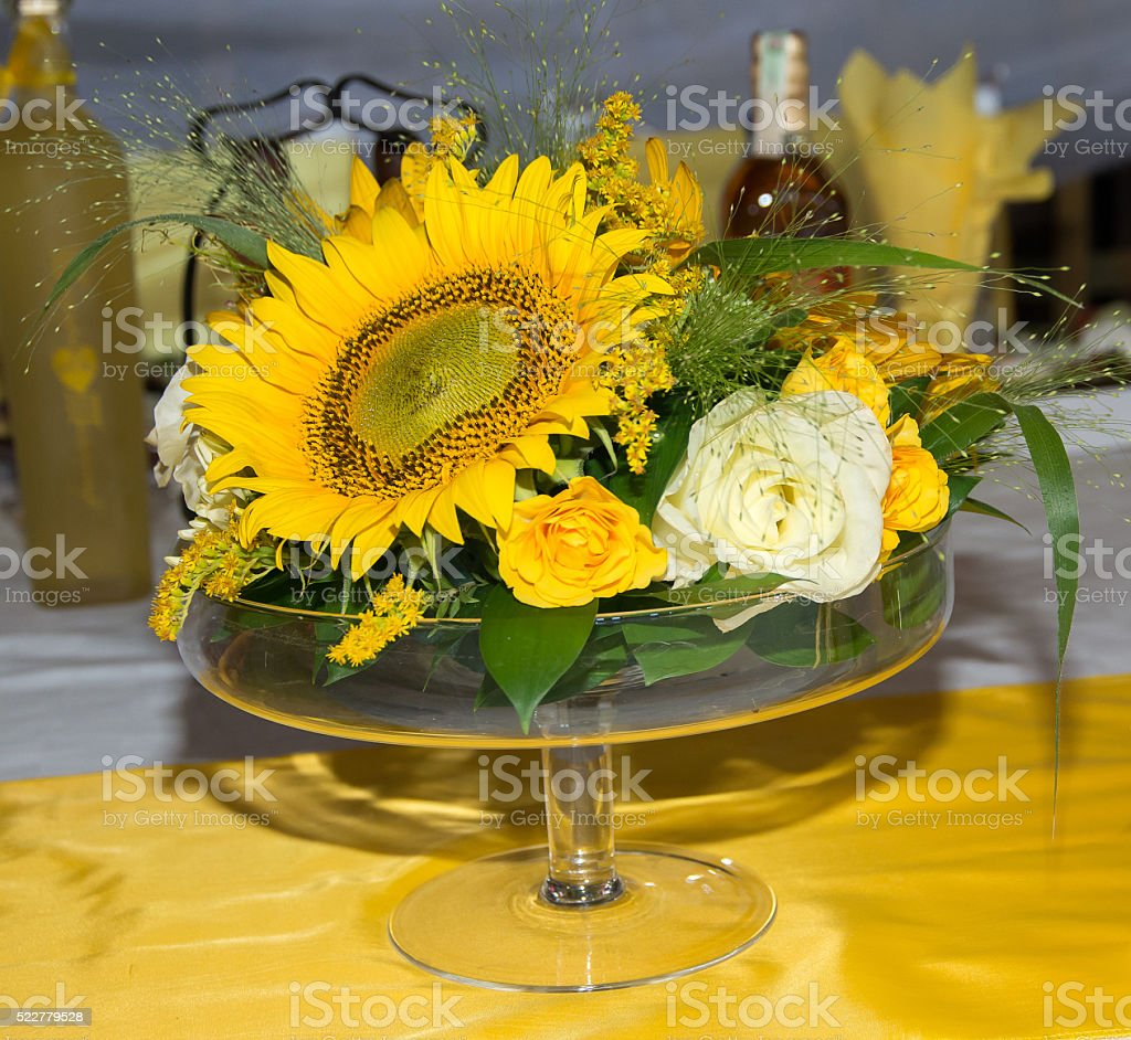 Mass decoration with flowers. stock photo