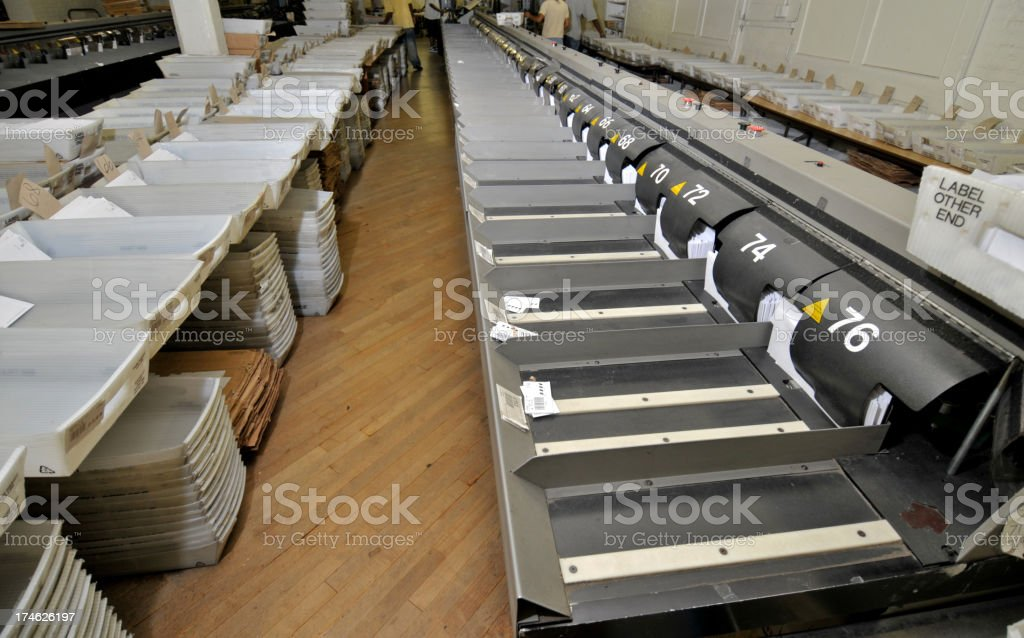 Mass mail operation center place royalty-free stock photo