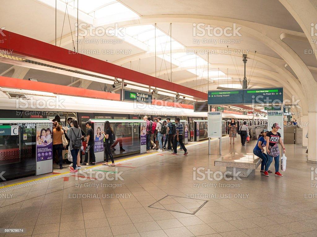 Mass Rapid Transit (MRT) of Singapore stock photo