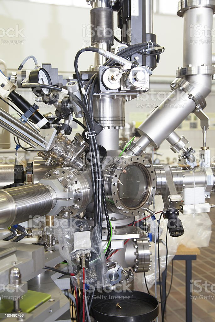 Mass spectrometer in nuclear lab stock photo