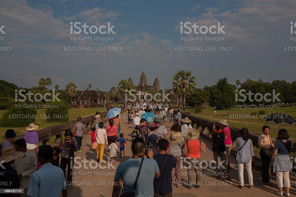 Mass tourism stock photo
