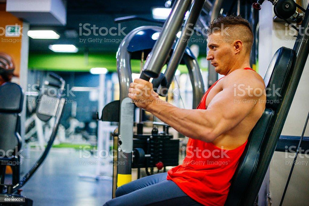 Mass workout for better strength stock photo