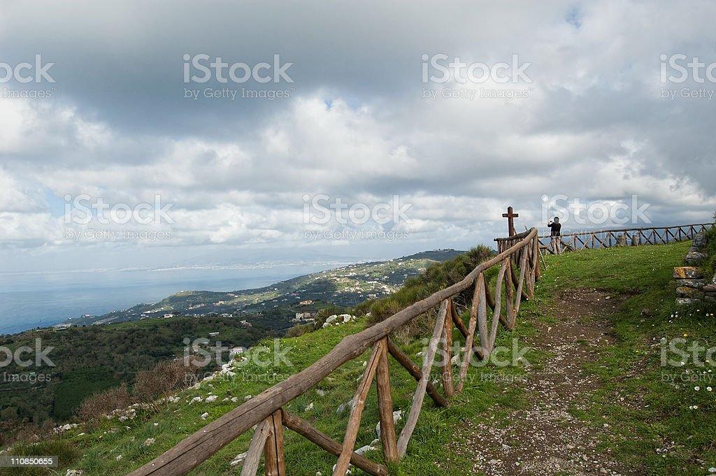 Massa Lubrense -Viewpoin San Costanzo - Sorrento Coast stock photo
