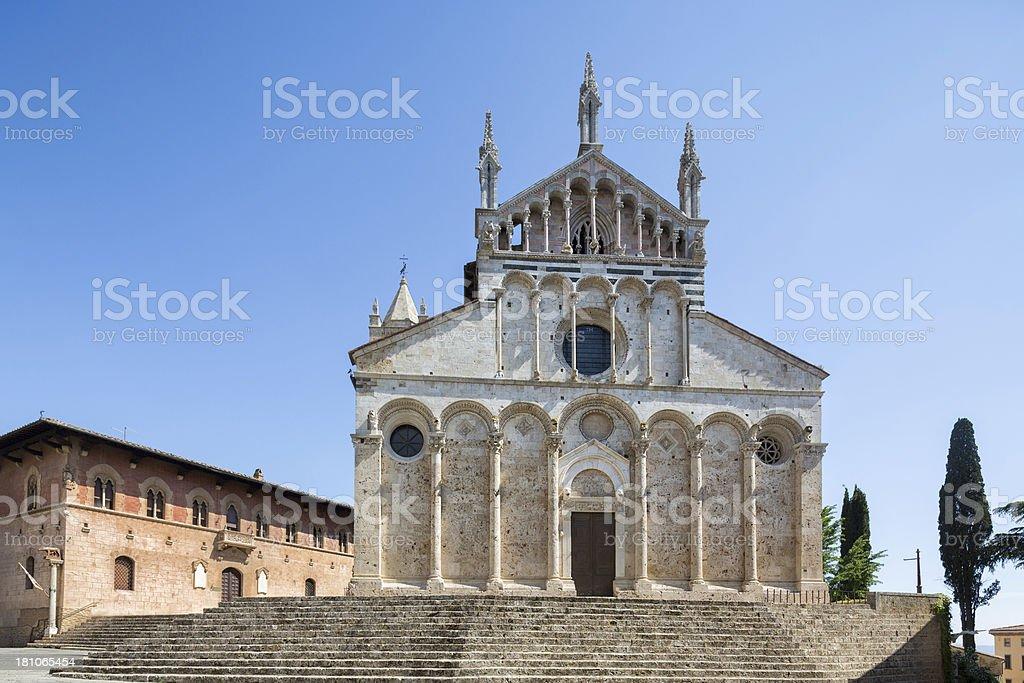 Massa Marittima Cathedral, Tuscany Italy royalty-free stock photo