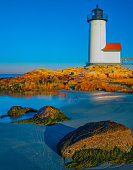 Massachusetts coast with Annisquam Lighthouse at Cape Ann;