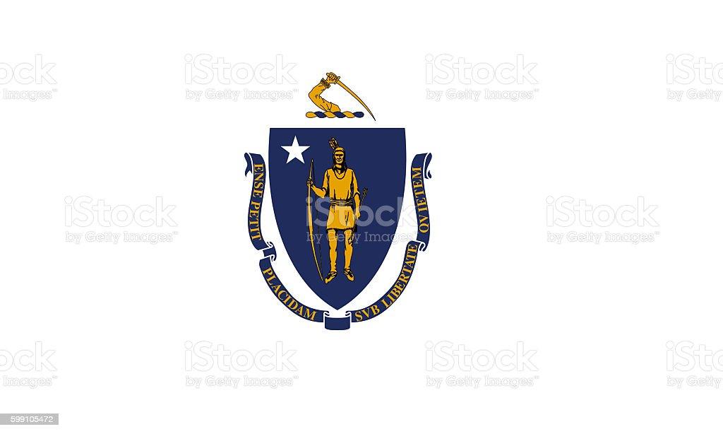 Massachusetts flag stock photo