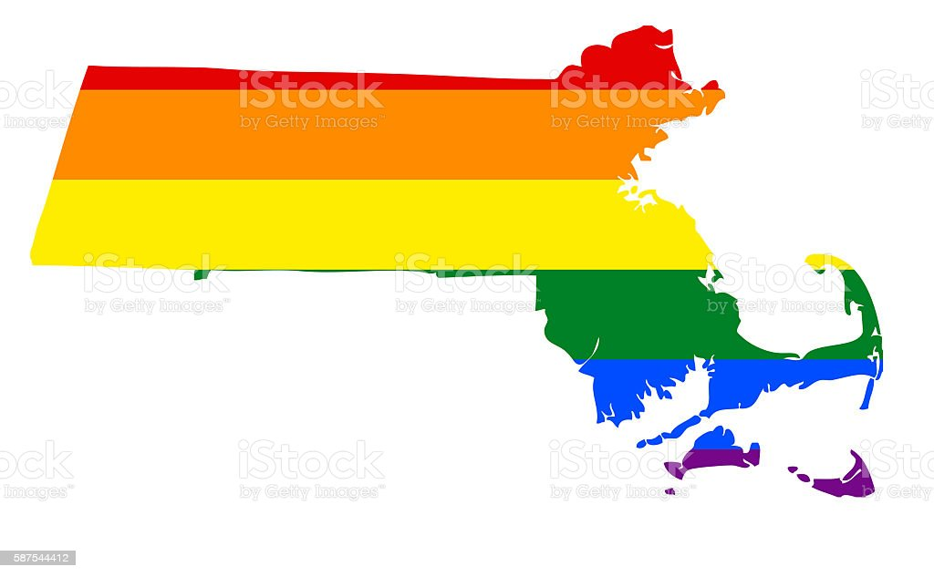 Massachusetts Gay Pride State stock photo