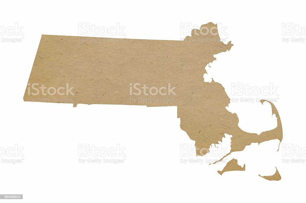 Massachusetts Recycles stock photo