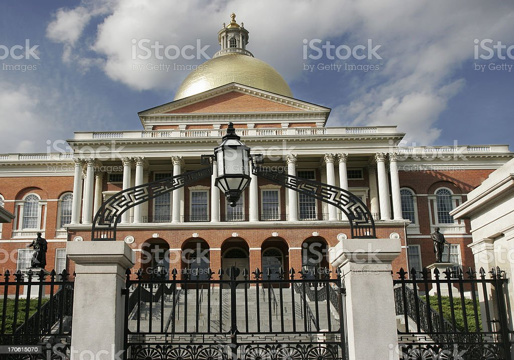 Massachusetts State Capitol House stock photo