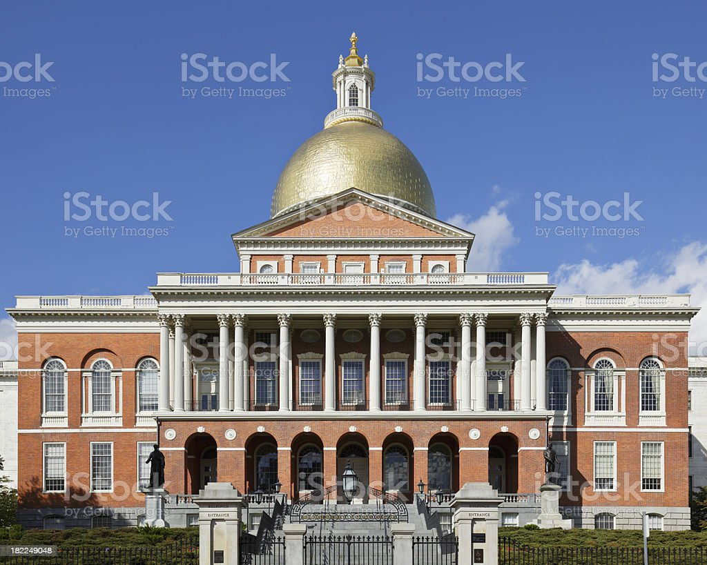 Massachusetts State Capitol royalty-free stock photo