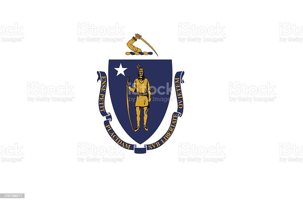 Massachusetts State Flag stock photo