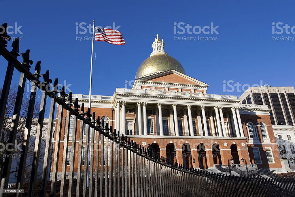 Massachusetts State House and Capital, USA stock photo