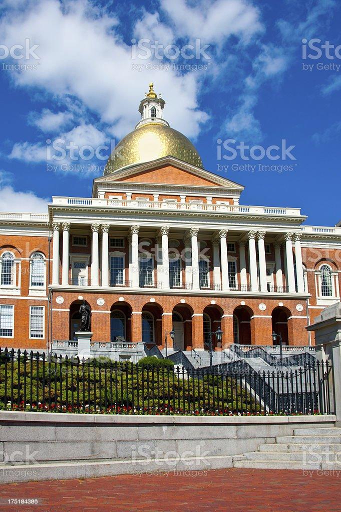 Massachusetts State House in Boston royalty-free stock photo