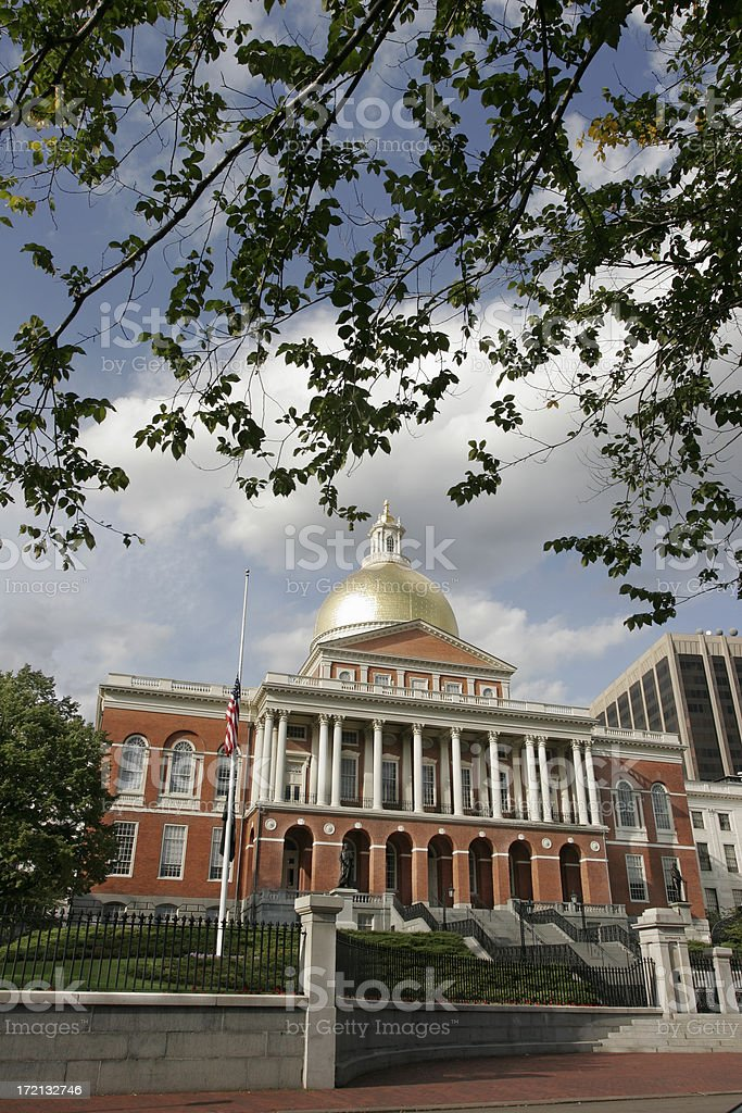 Massachusetts State House royalty-free stock photo