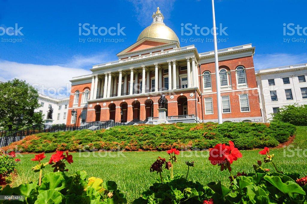 Massachusetts State House stock photo